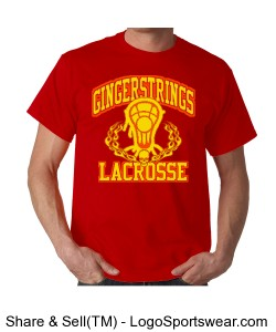 Red GingerStrings Lacrosse Design Zoom